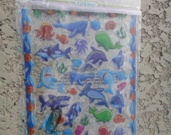 Die Cut Stickers Sea Animals Shark Dolphin Octopus Fish Scrapbook Stickers DIY Scrap book