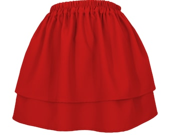 Red two-layer mini skirt poland new