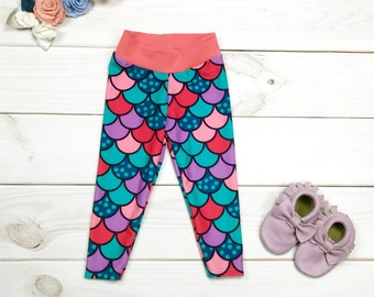 Mermaid Leggings, Mermaid Scale Leggings, Mermaid Scales, Mermaid Pants, Mermaid Scale Pants, Baby Mermaid Leggings, Toddler Mermaid Legging
