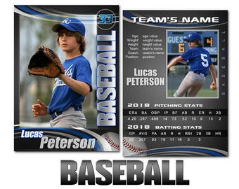 "Baseball ""Graphite"" Cards Templates"