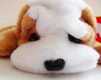 TY Original Beanie Baby Wrinkles the bulldog | vintage plush toy | retired dated | DOB 5. 1. 96. | rare collectible