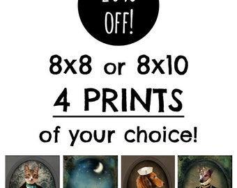 SAVE 20% - Custom Photography Collection, Choose Any Four 8x8 or 8x10 Prints