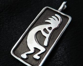 Silver Kokopelli pendant