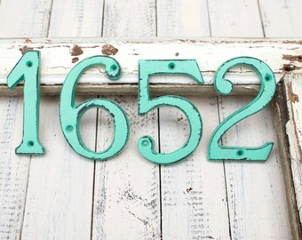 House Numbers, Address Numbers, Metal House Numbers, Outdoor Beach Decor, Beach Home Decor, House Numbers, Address, Apartment Decor, Numbers