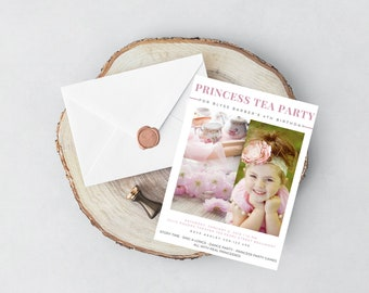 Princess Tea Party Pink Invite