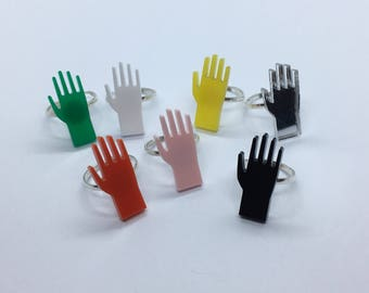 Multiple Colours Available Laser Cut Acrylic Hand Ring