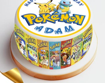 7.5' Diameter Icing Cake Topper - Pokemon