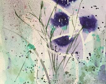 La couleur violet 6 - original peinture la couleur violet 6