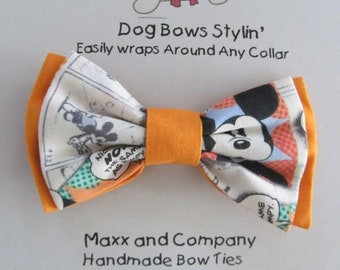 Dog Bow Tie - Mickey Mouse Dog Bow Tie - Small Dog Bow Tie - Cat Bow Tie - Dog Bowtie - Dog Bow