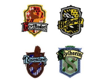 Harry Potter Hogwarts Houses Machine Embroidery File Design 4 x 4 inch hoop - 4 designs