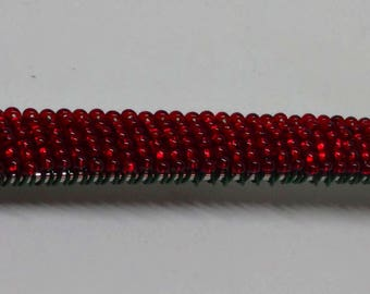 Holiday Red Beaded Appetizer Fork #3