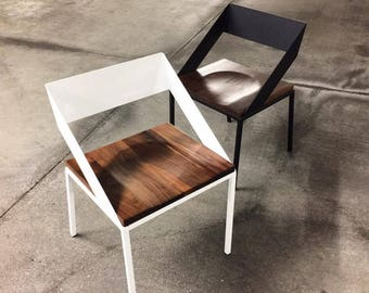Handcrafted Wood And Metal Frame Dining Chair (Model Name: Emily)