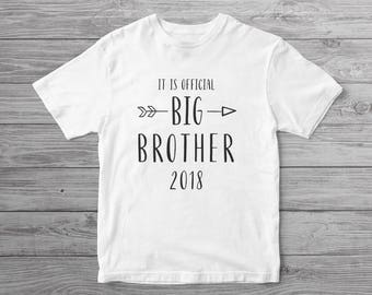 Big Brother Shirt for Toddler // It Is Official Big Brother Shirt // New Big Brother / Pregnancy Announcement Shirt / Pregnancy Reveal Shirt