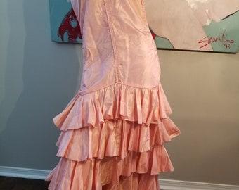 FREE  SHIPPING    1930  Ruffle  Gown