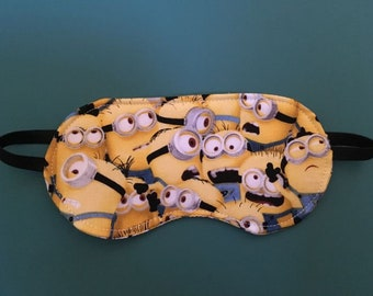 New MINIONS Sleep MASK Eye Sleepwear Blindfold Cartoon Clothes