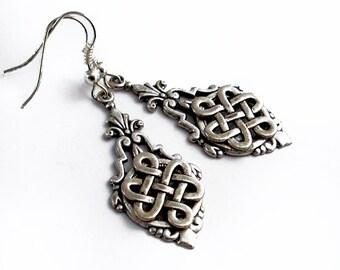 Silver Celtic Knot - Dangle Earrings Jewelry