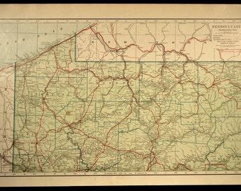 Northwestern Pennsylvania Map LARGE Road Map Highway Northwest