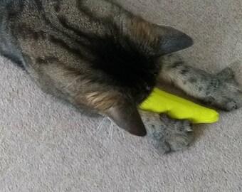 Organic Catnip Toy, Cat Toy, Banana, Banana Catnip Toy, Handmade, Gift for Cat, Luxury Handmade Catnip Toy