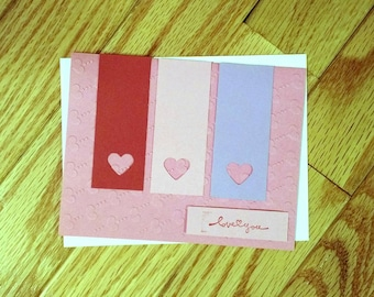 Valentine's day card, Love You Card, Anniversary Card, Just Because Card, Romance card, I love you card, Homemade Card, Stampin up card