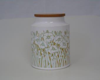 Hornsea 1970's Fleur Pattern Large Canister- Storage Jar