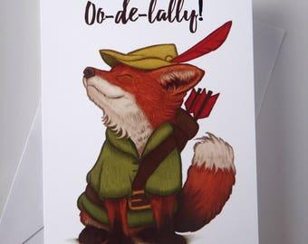 Robin Hood Greeting Card, Greeting Card, Fox Card, Disney Greeting Card, Robin Hood, Robin Hood Gift