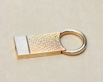 Gold Vintage Keychain, Vintage Keychain, Gold Keychain, Spring Keychain, Simple Keychain