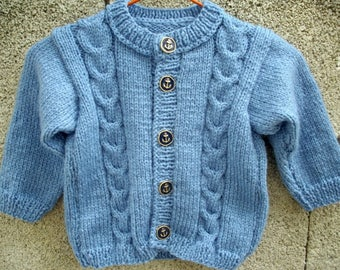 Long sleeve jacket size 18 months / 2 years acrylic blue