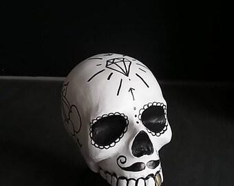 Old School Tattoo Skull Sugarskull