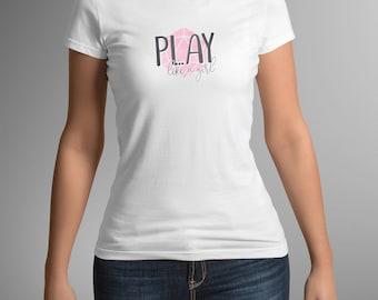 Dungeons & Dragons | Play Like a Girl | Women's Shirt - Pink, DnD, RPG, Gamer