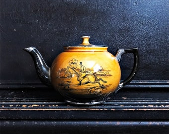 Vintage Arthur Wood Teapot | Hunting Collection | Ye Old Coaching and Hunting Days | England
