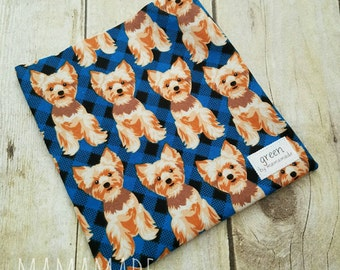 Terrier on Plaid - Reusable Sandwich Bag | Snack Bag | Waterproof | Travel Bag from green by mamamade