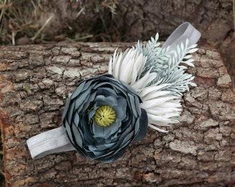 flower headband, Headband, baby flower crown, flower headband, newborn headband, 1st flower headband