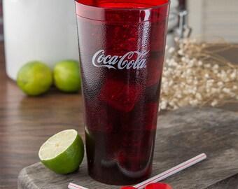 Vintage Coke / Coca Cola  Ruby Red 20 0unce Tumbler