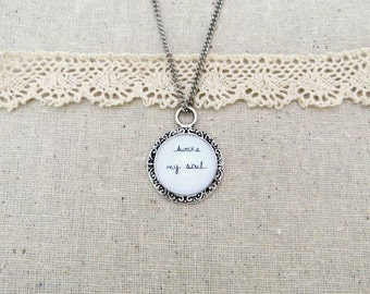 Awake My Soul Handcrafted Pendant Necklace (Silver or Brass)