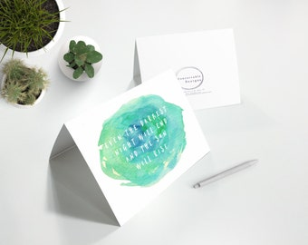 Even the darkest night..IVF IVF Card IVF Cards, Infertility Card, Infertility Cards, Infertility Encouragement Card, Infertility Support