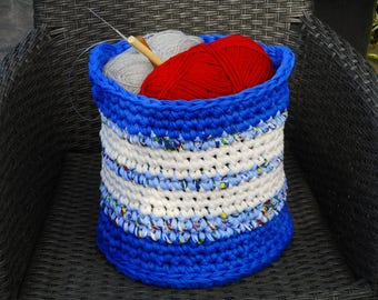 large basket for toys storage basket for craft supplies laundry bin accessory organizer cotton chunky crochet basket with handles hygge gift
