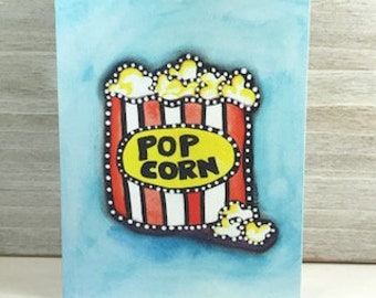 Popcorn - Blank Greeting Card - Any Occasion