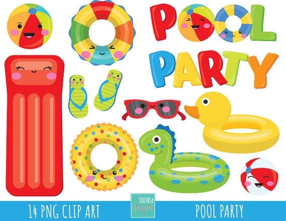 50 sale pool party clipart summer clipart commercial