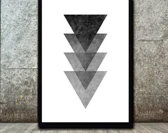 Minimalist  Art  - Minimalist Print - Abstract Wall Art - Abstract Art Print - Triangle Art