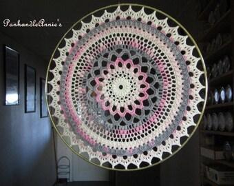 Textured Handmade Crocheted Suncatcher