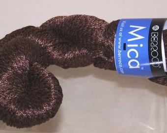 Berroco Mica Yarn Cotton Silk Linen 1133 Brown  1 Hank