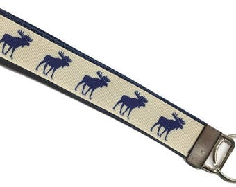 Moose Keychain, Moose Key Chain, Moose Gift, Moose, Key Chain, Key Holder, Key Wrist Strap, Key Fob Wristlet, Keychain, Key Wristlet