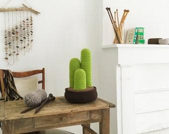 Big crochet cactus, handmade in soft wool