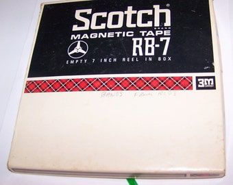 "Scotch Magnetic 7"" Reel Tape of Band Recordings, Scotch magnetic Tape RB-7 Reel, Unknown Band Recordings, Vintage Band Reel, Mysterious Band"