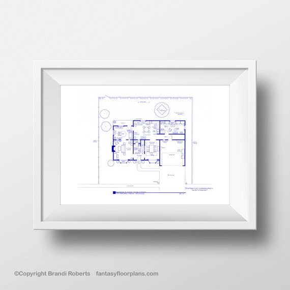 Simpsons house layout famous tv show floor plan blueprint simpsons house layout famous tv show floor plan blueprint poster art for home of marge and homer simpson 1st floor seen on aol news malvernweather Image collections
