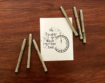 Time Quote Calligraphy