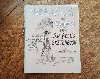 West Texas Art Sketchbook  Windmills  Country Side Abandoned Homesteads Windmills Buildings Animals Flowers by Jan Belland
