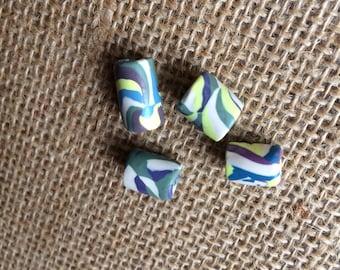 Set of 4 Handmade Polymer beads