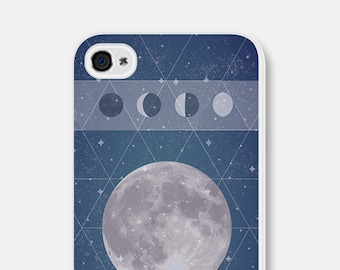 iPhone 5c Case - Moon iPhone 5 Case - Moon Phase iPhone Case - Moon Phase iPhone 5c Case - Moon Phase iPhone 5 Case Geometric Phone Case