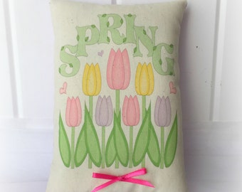 Spring Tulips accent pillow